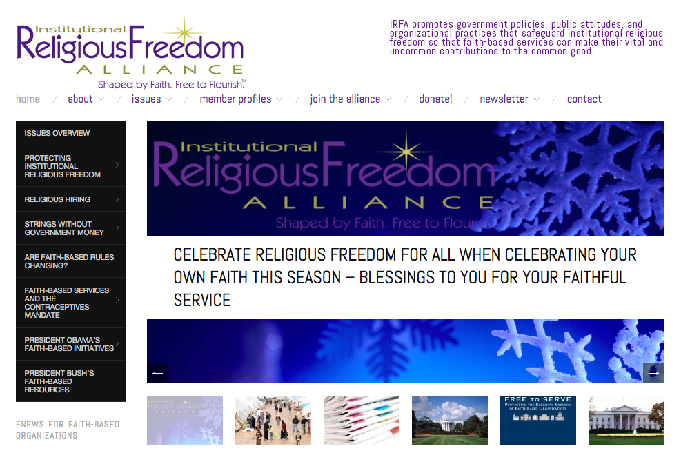 institutional religious freedom alliance website