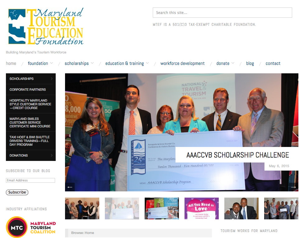 maryland tourism education foundation website