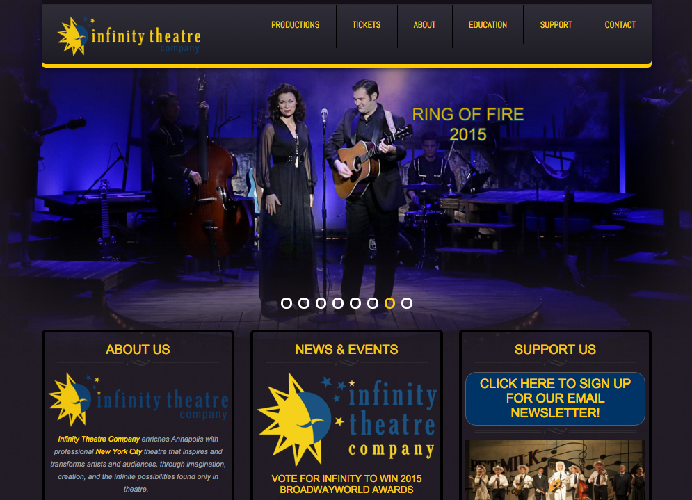 infinity theatre company website